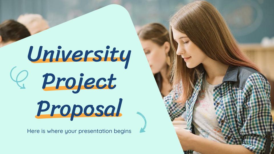 University Project Proposal presentation template