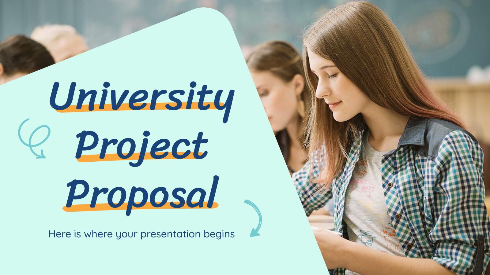 Proposition de projet universitaire : Modèles de présentation