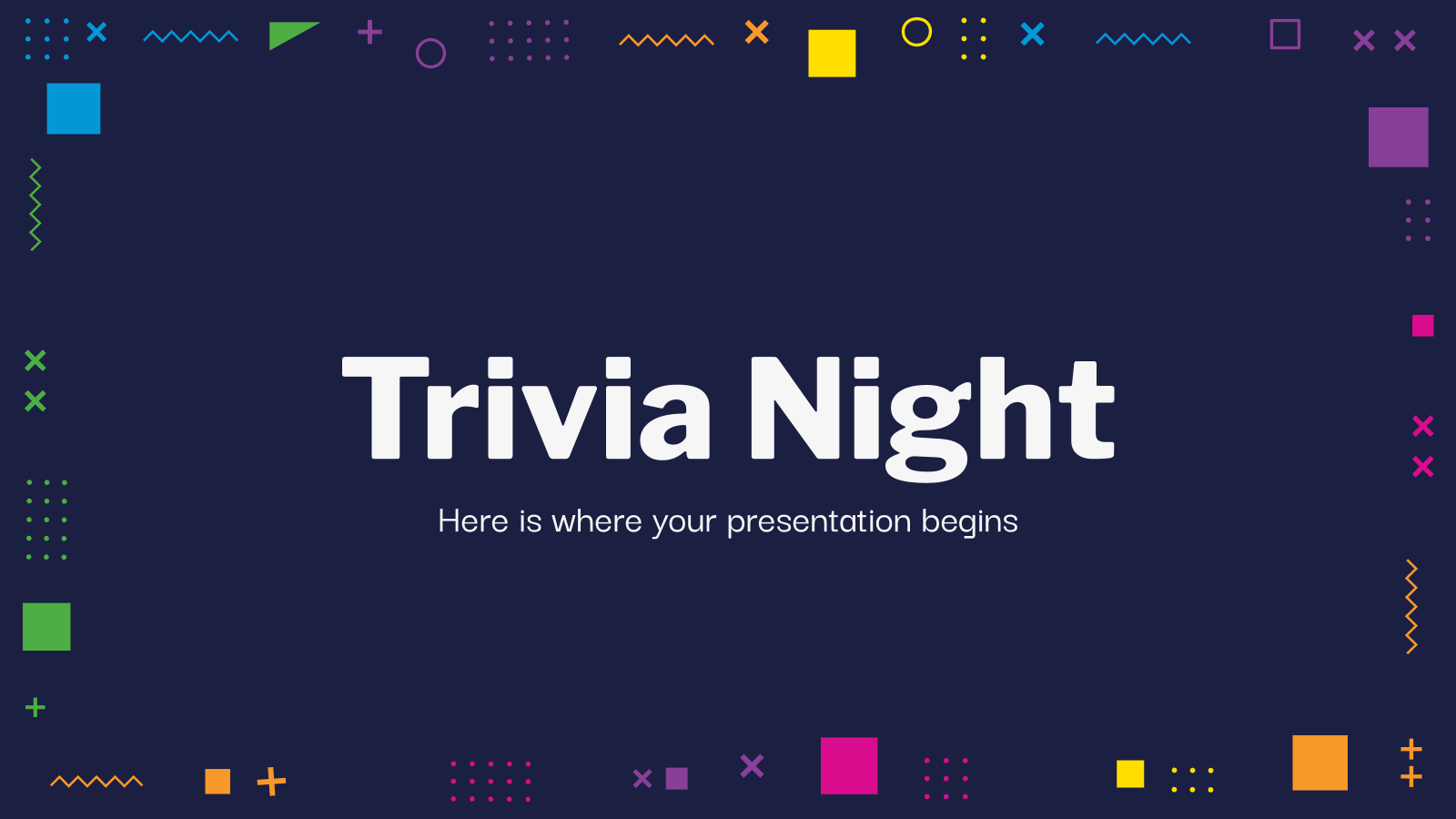 Trivia Night presentation template