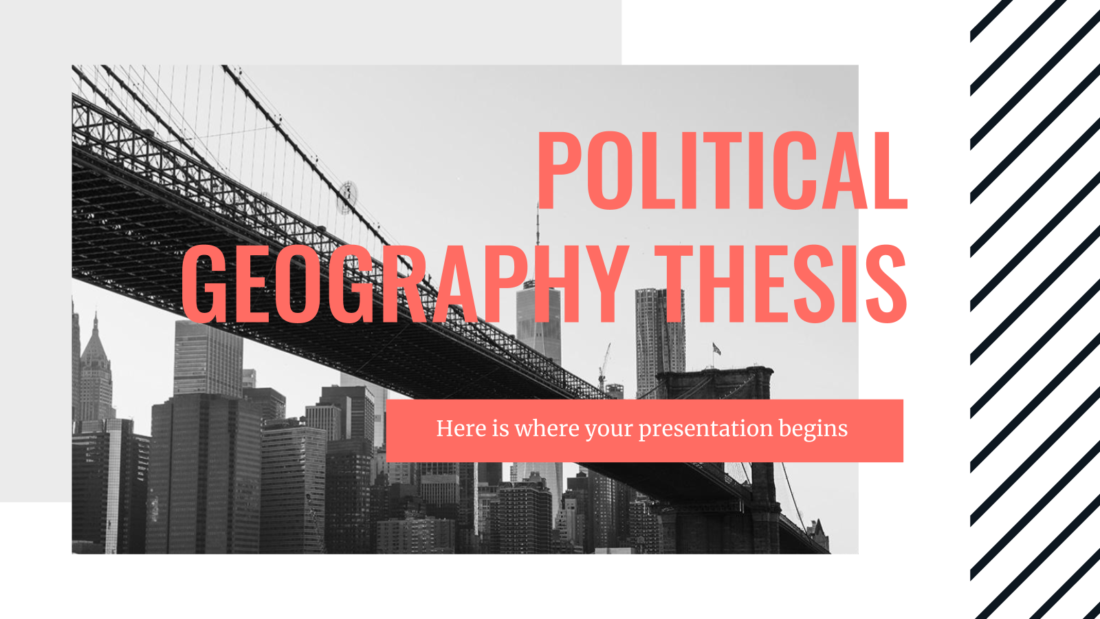Political Geography Thesis presentation template