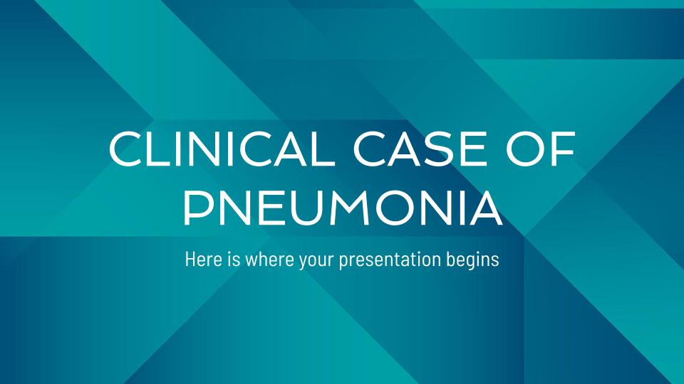 Modelo de apresentação Caso clínico de pneumonia