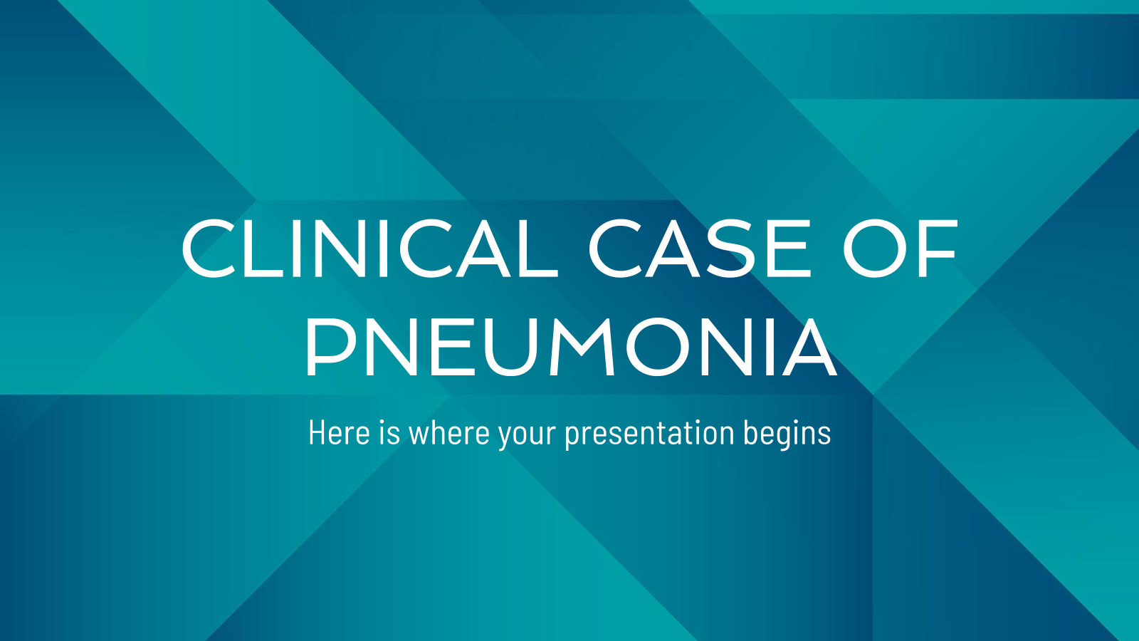 Clinical Case of Pneumonia presentation template