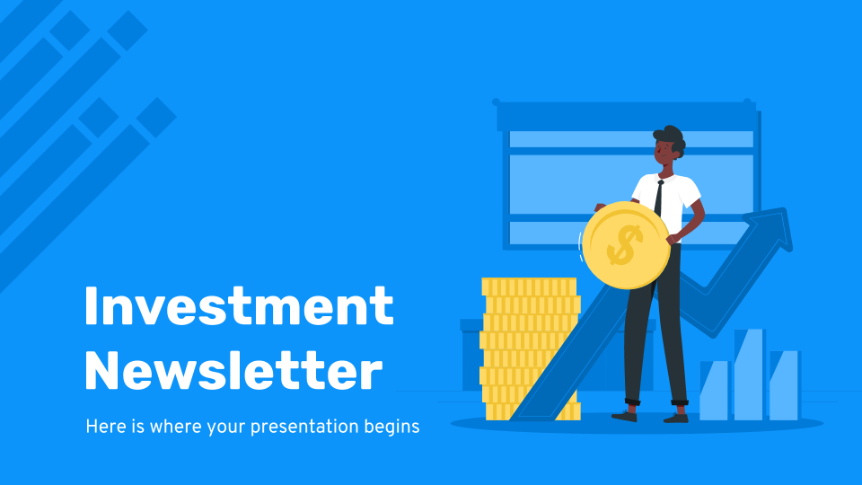 Plantilla de presentación Newsletter financiera