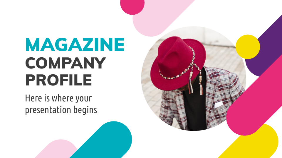 Magazine Company Profile presentation template