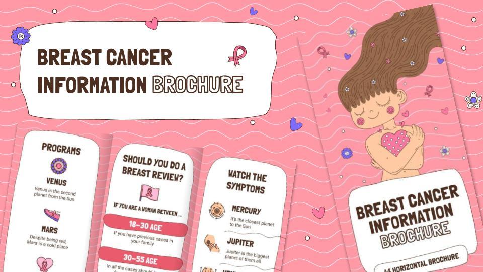 Broschüre über Brustkrebs Präsentationsvorlage