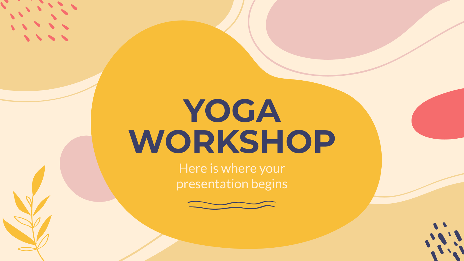 Yoga Workshop presentation template