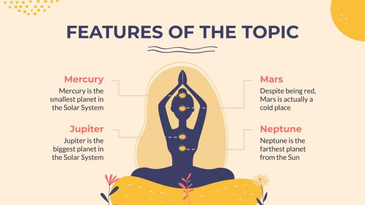 Plantilla de presentación Taller de yoga
