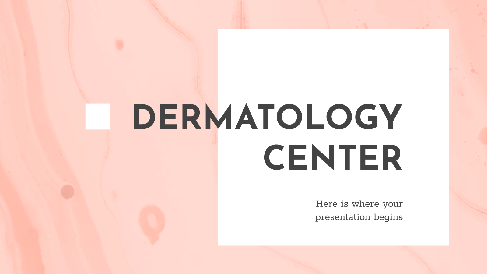 Dermatology Center presentation template