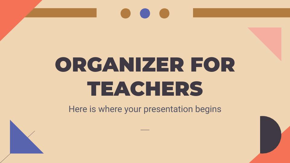 Organisateur pour les enseignants : Modèles de présentation