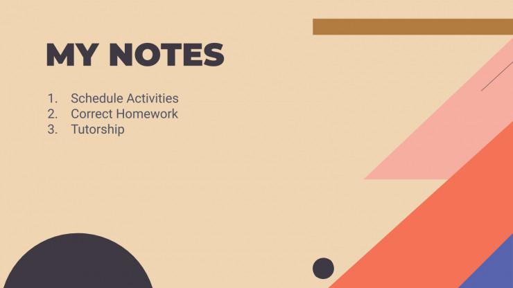 Plantilla de presentación Organizador para profesores