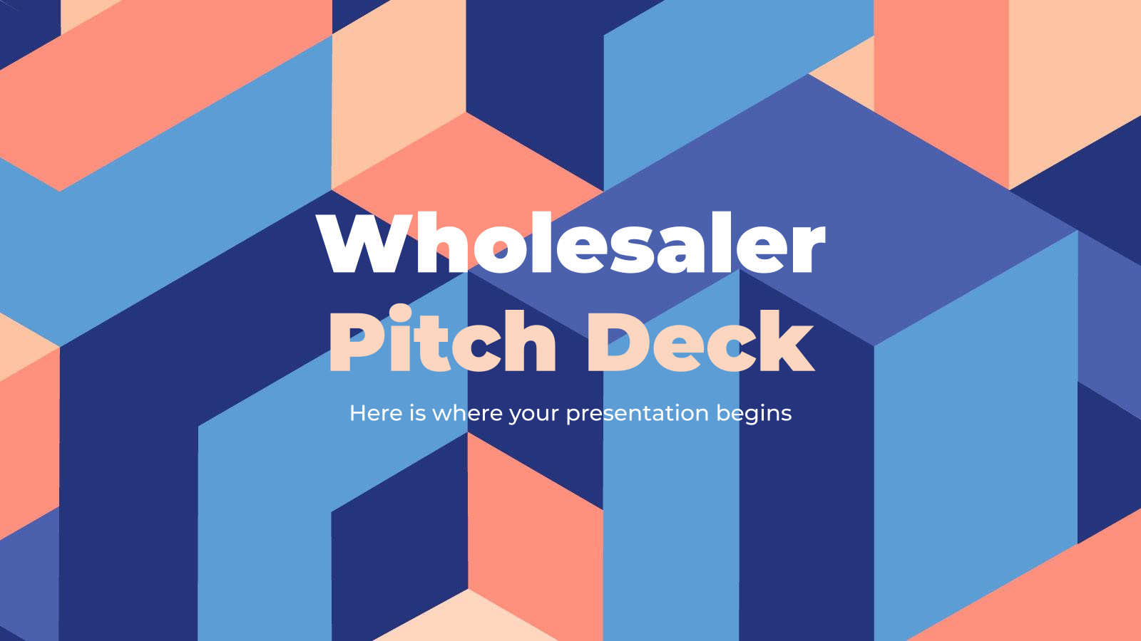 Wholesaler Pitch Deck presentation template