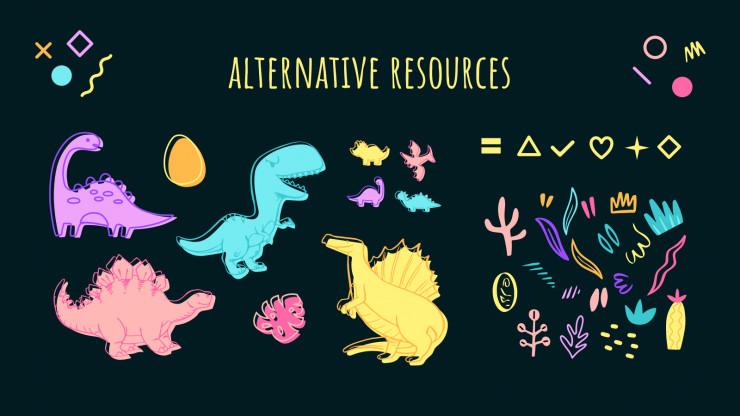 Prehistory: Dinosaur Lesson presentation template
