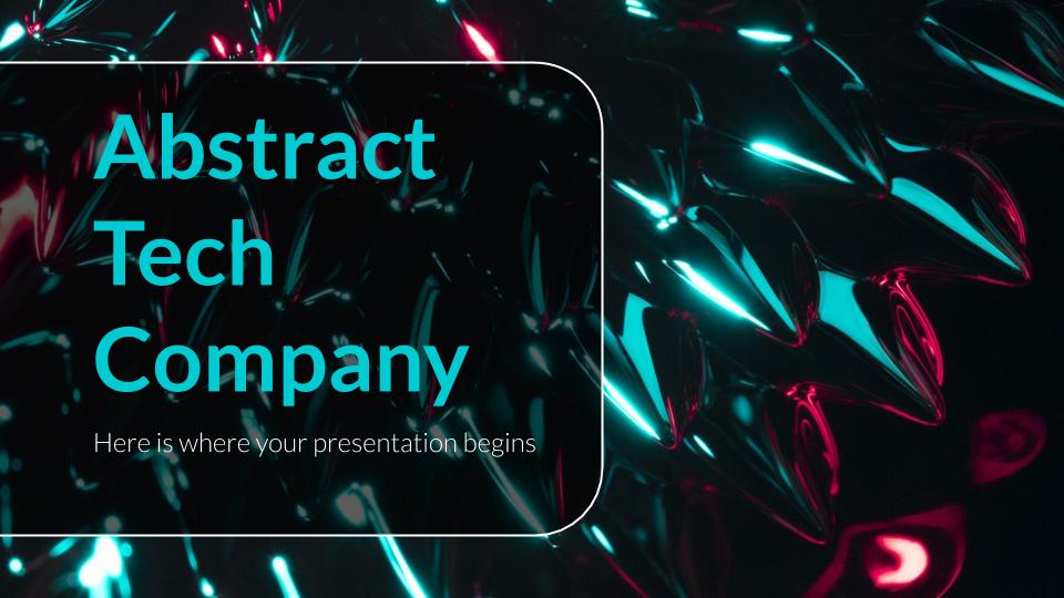 Entreprise technologique abstrait : Modèles de présentation