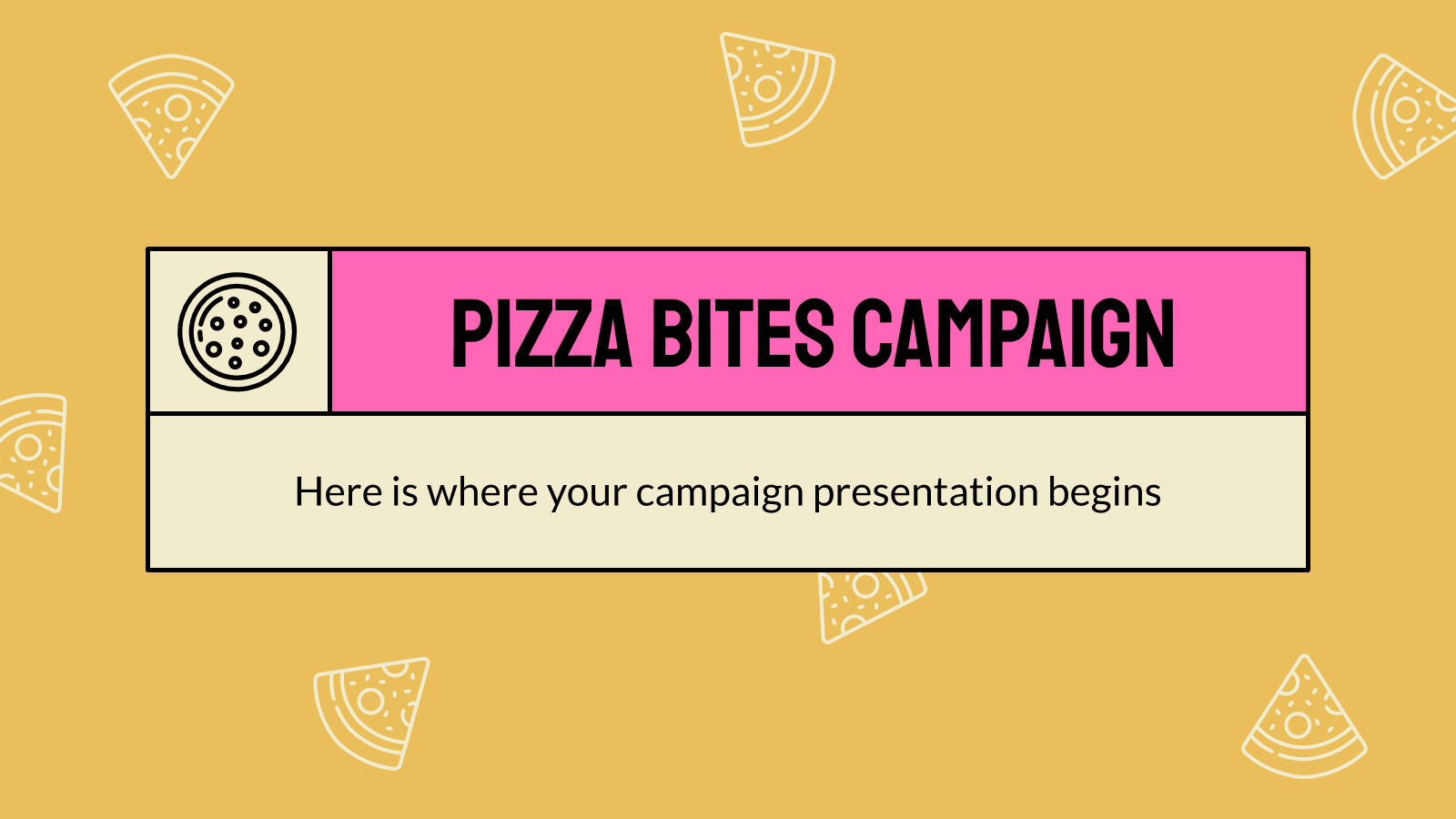 Pizza Bites presentation template