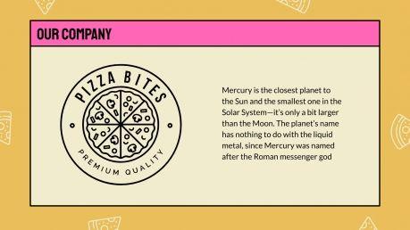 Plantilla de presentación Patrones de pizza
