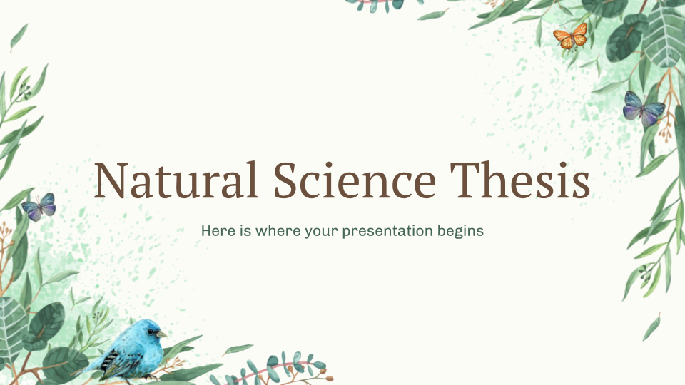Natural Science Thesis presentation template