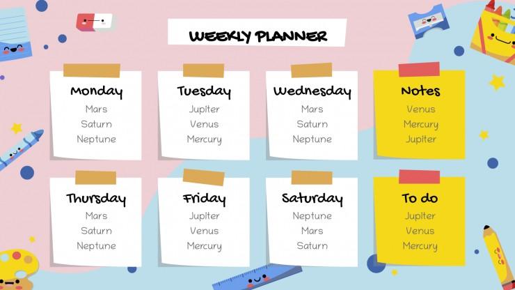Kawaii Class Schedule presentation template