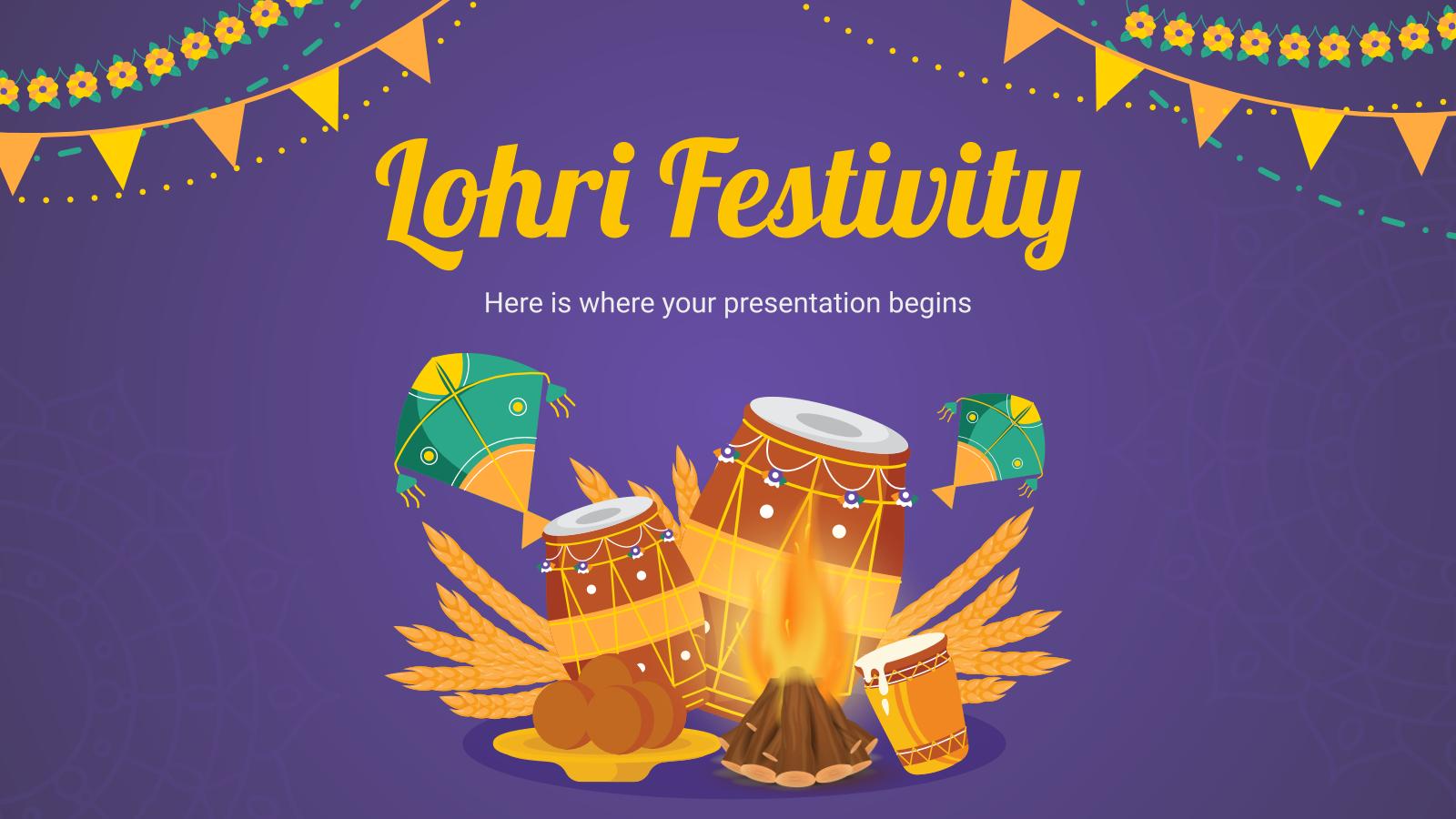 Modelo de apresentação Festividade Lohri