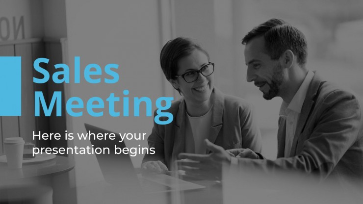 Plantilla de presentación Reunión de ventas