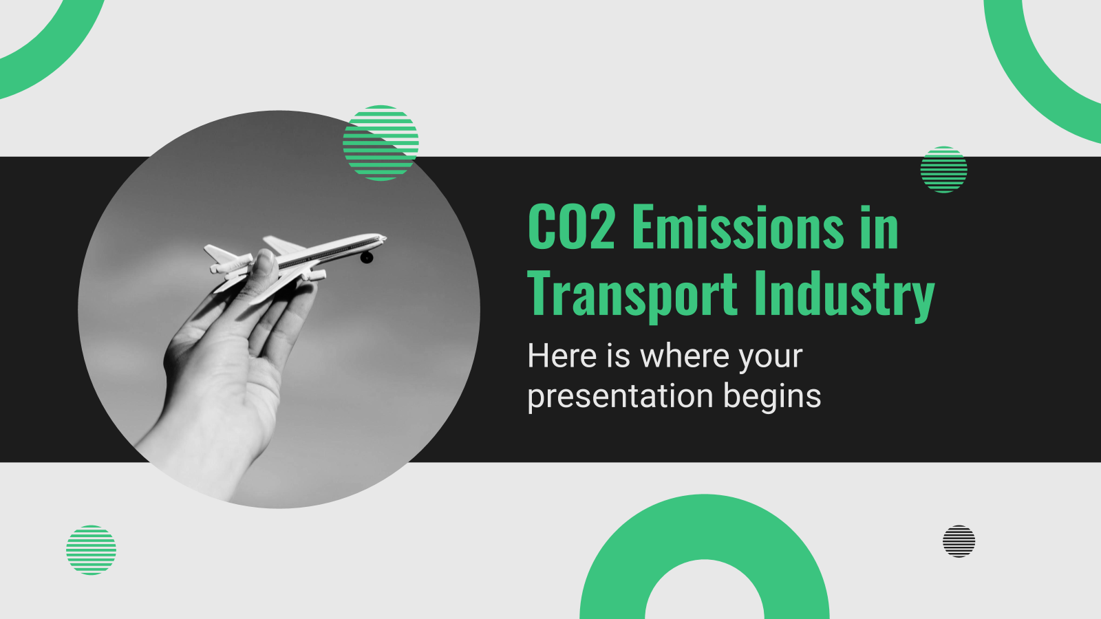 CO2 Emissions in Transport Industry presentation template