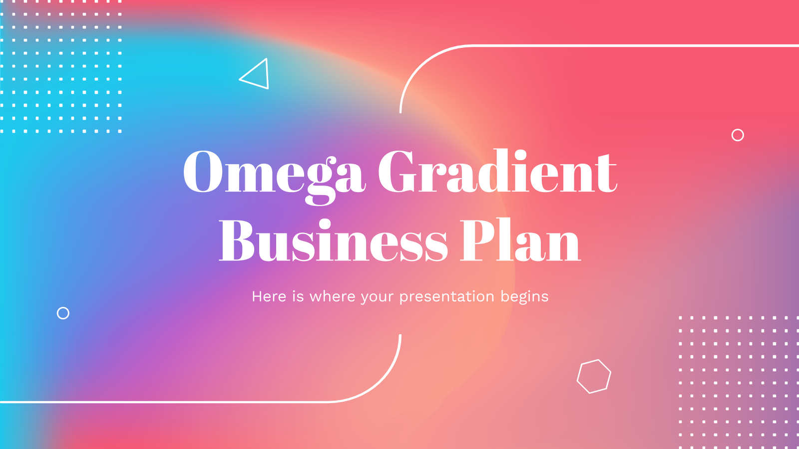 Omega Gradient Business Plan presentation template