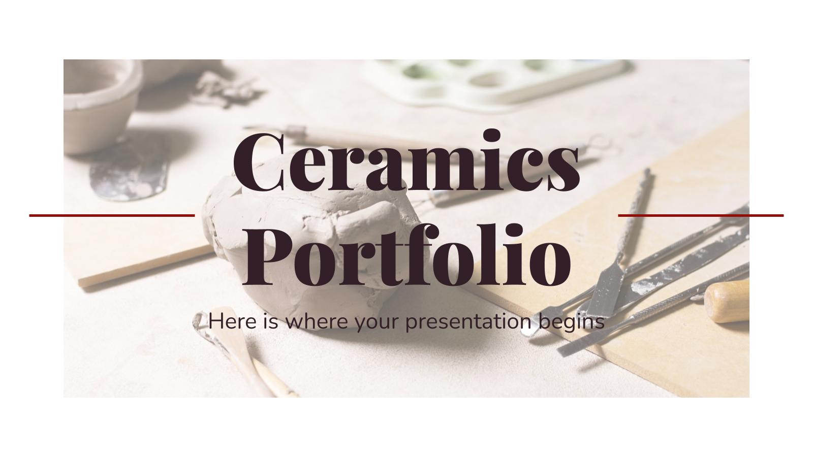 Modelo de apresentação Portfólio de cerâmica