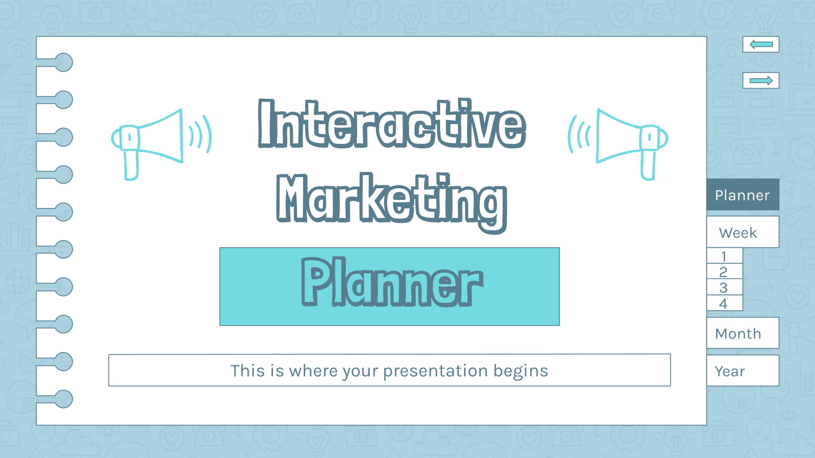 Interactive Marketing Planner presentation template