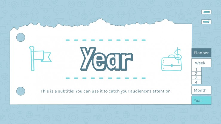 Interactive Marketing Planner presentation template