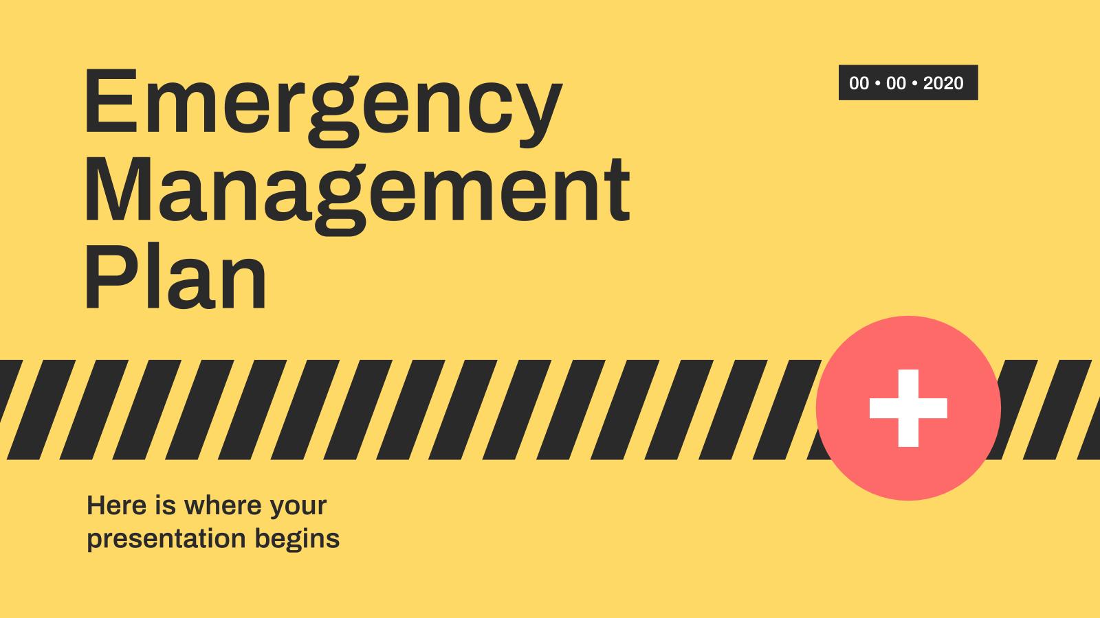 Plantilla de presentación Plan de gestión de emergencias