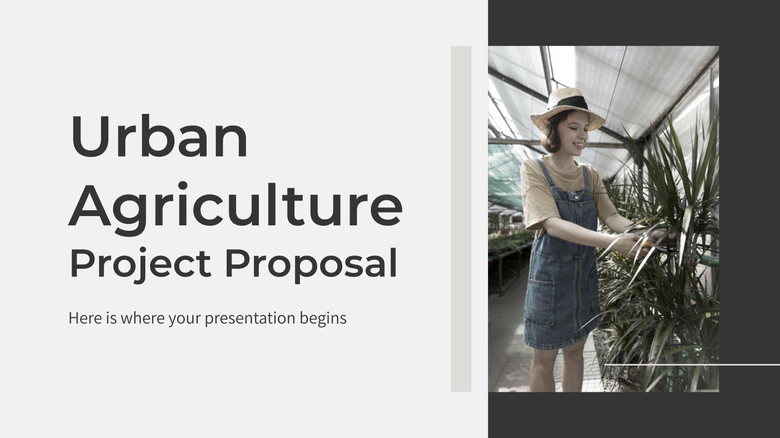 Proposition de projet d'agriculture urbaine : Modèles de présentation
