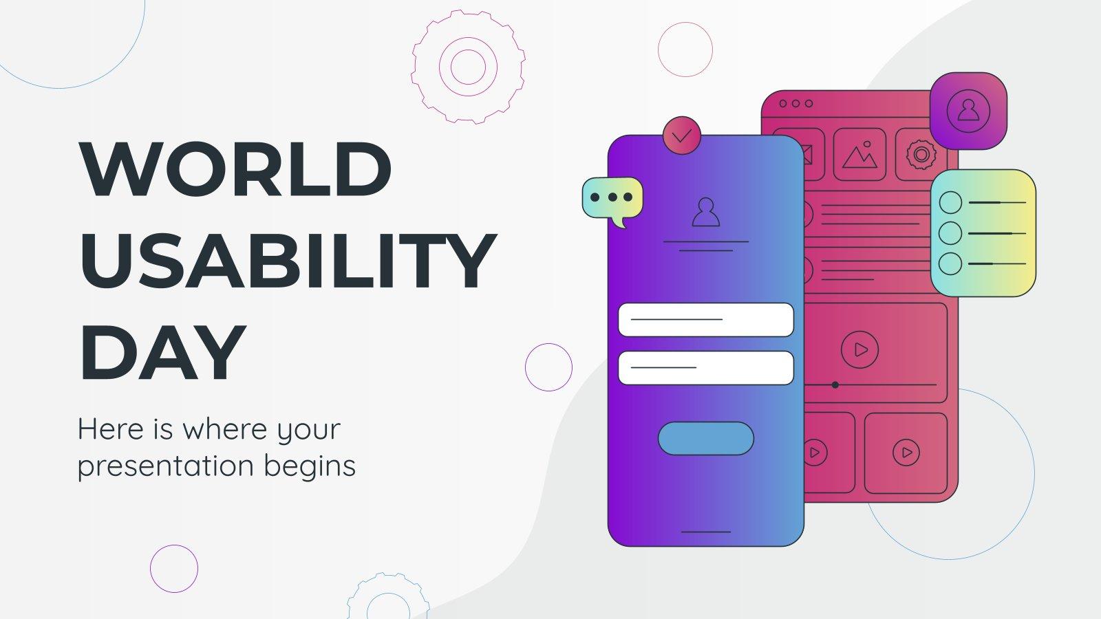 Journée mondiale de l'utilisabilité : Modèles de présentation