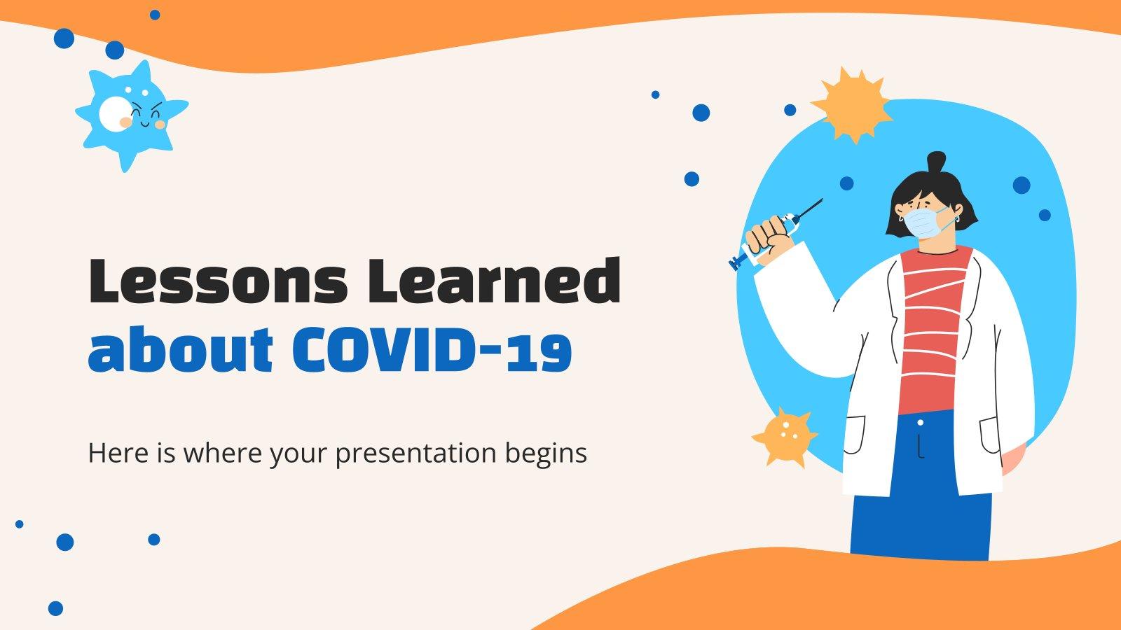 Leçons apprises sur la COVID-19 : Modèles de présentation