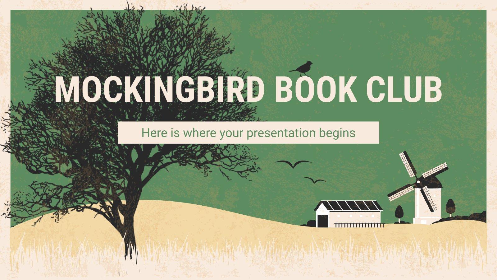 Club de lecture l'oiseau moqueur : Modèles de présentation