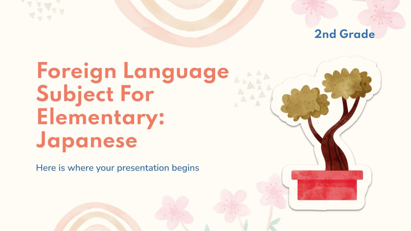 Fremdsprache für die 2. Klasse: Japanisch Präsentationsvorlage