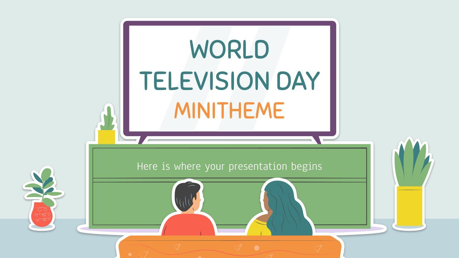 Minithema: Welttag des Fernsehens Präsentationsvorlage