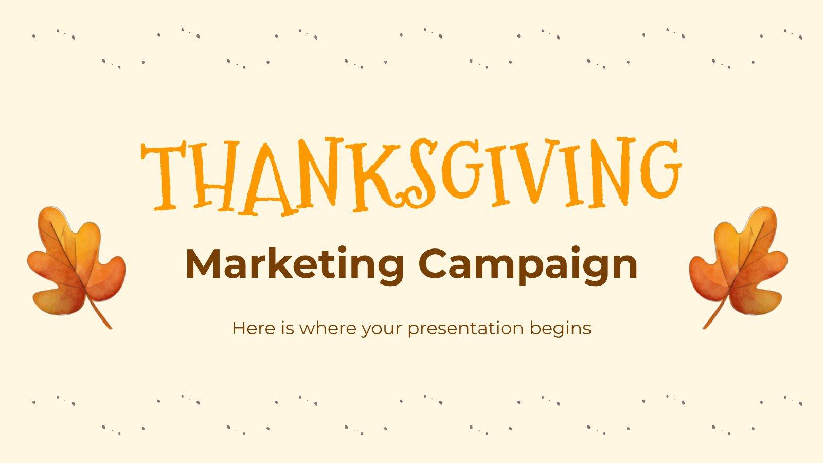 Thanksgiving MK Campaign presentation template