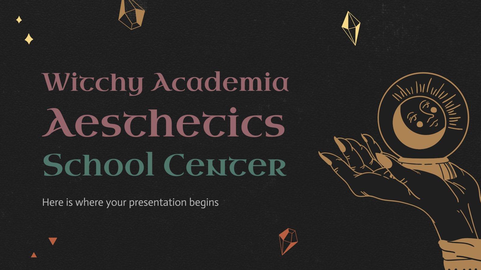 Witchy Academia Aesthetics School Center presentation template