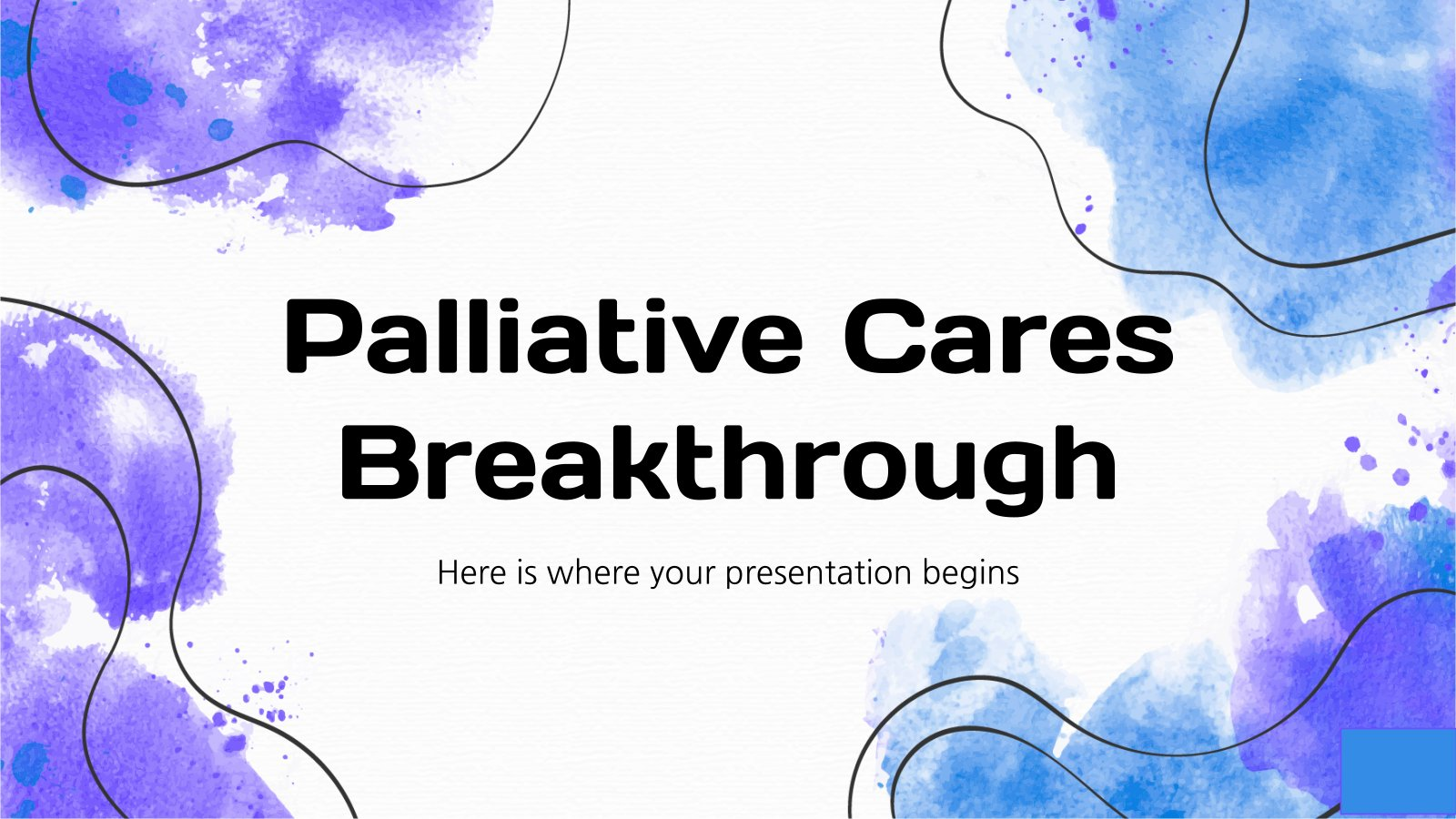 Plantilla de presentación Avance sobre los cuidados paliativos
