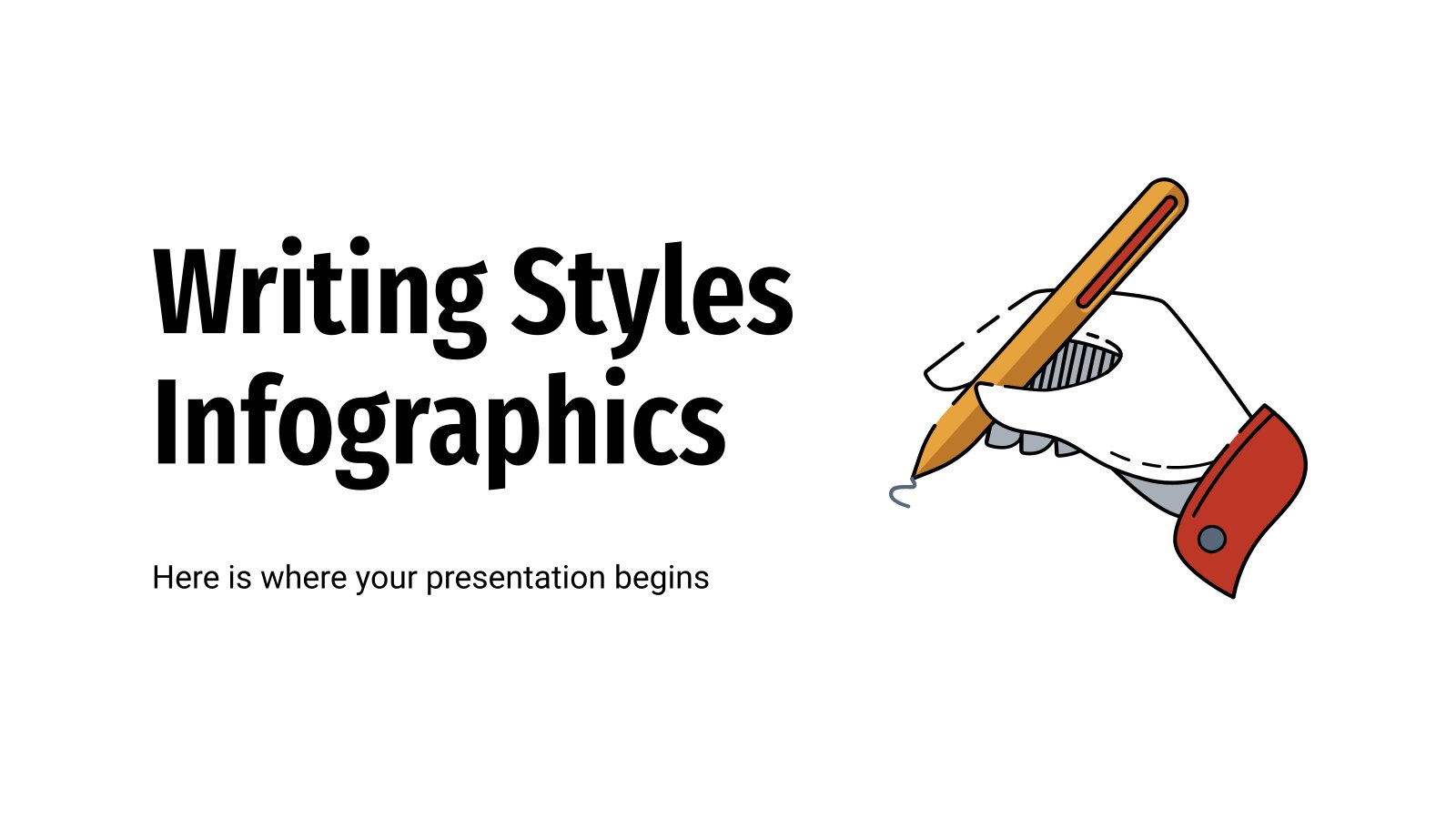 Writing Styles Infographics presentation template