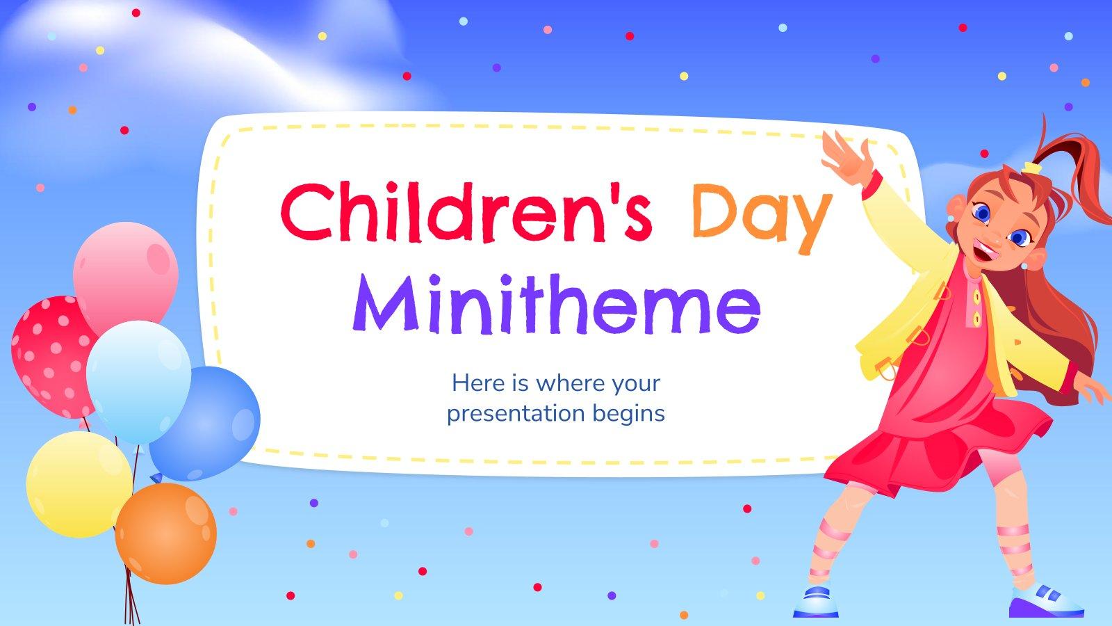 Minithème : Journée de l'enfance : Modèles de présentation