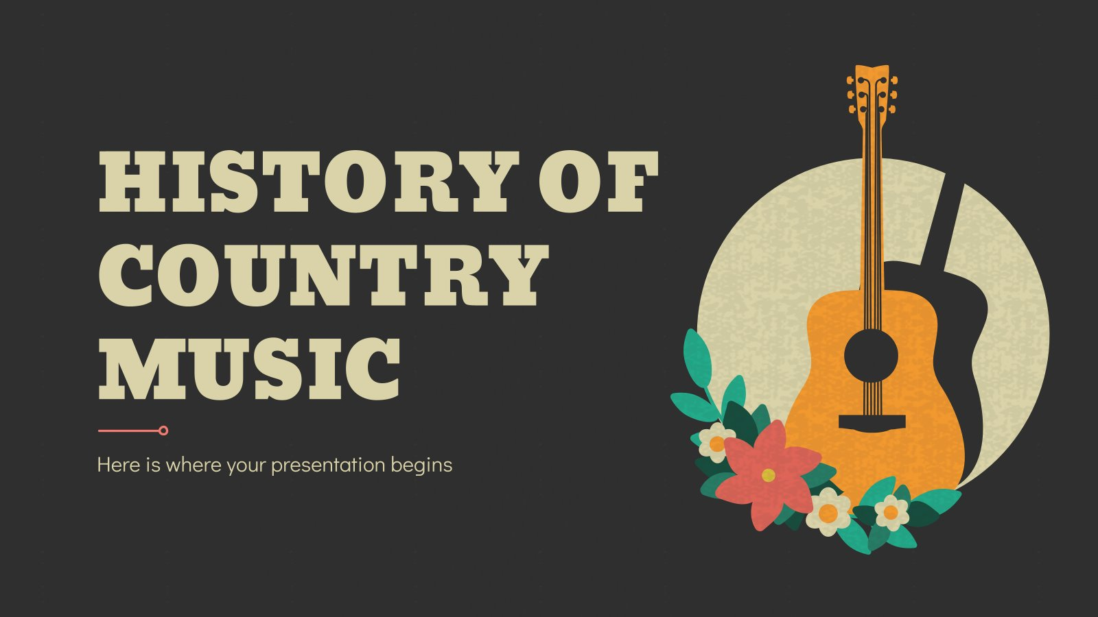 History of Country Music Minitheme presentation template