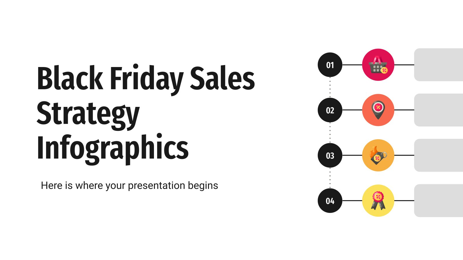 Black Friday Sales Strategy Infographics presentation template