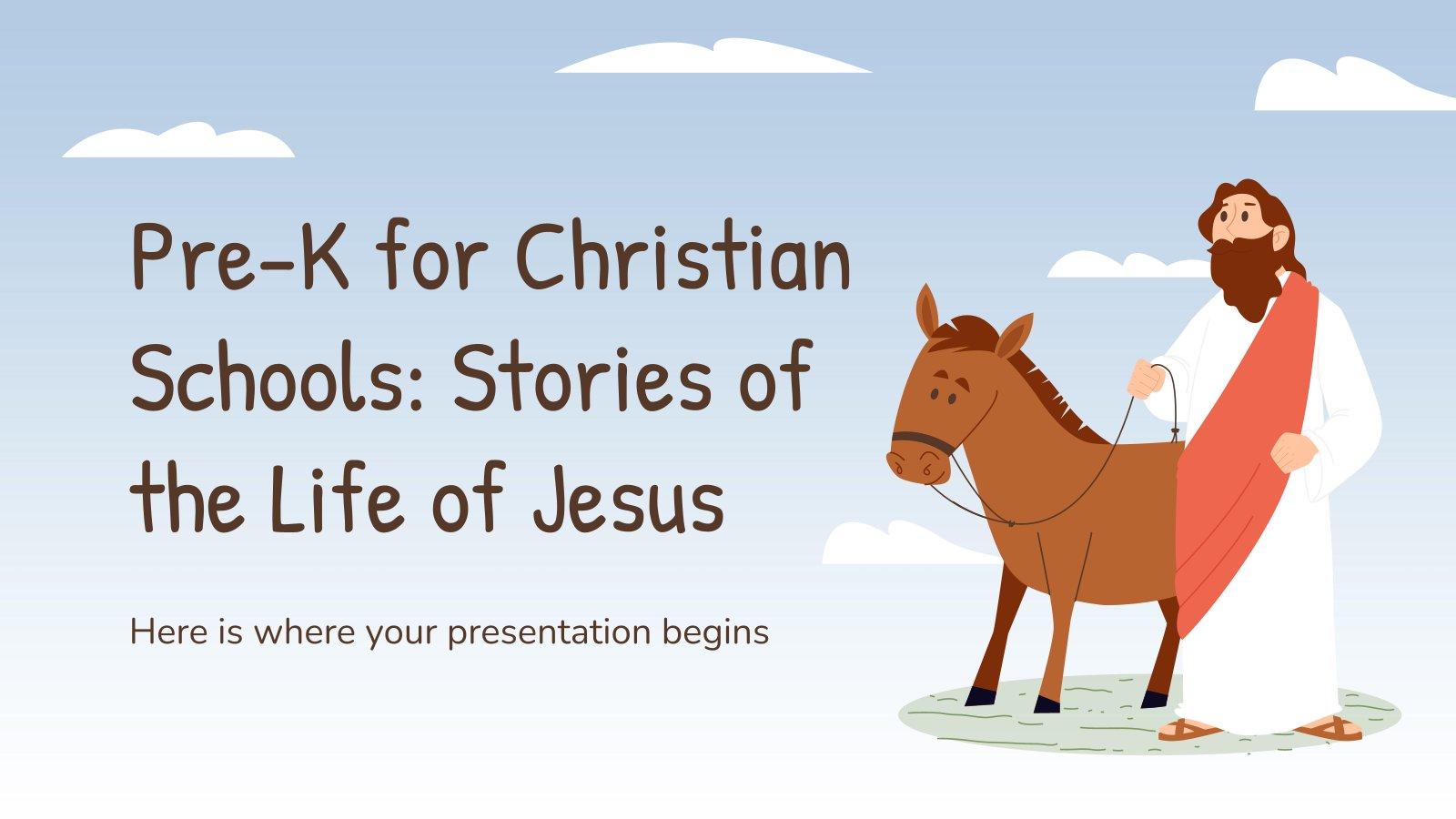Histoires de la vie de Jésus-Christ pour l'école maternelle : Modèles de présentation