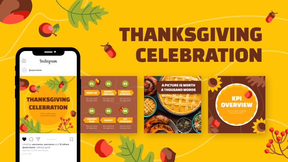 Publications Instagram pour célébrer Thanksgiving : Modèles de présentation