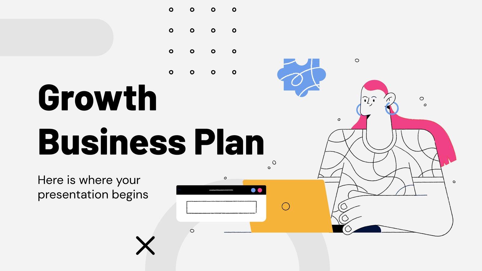 Modelo de apresentação Plano de negócios de crescimento