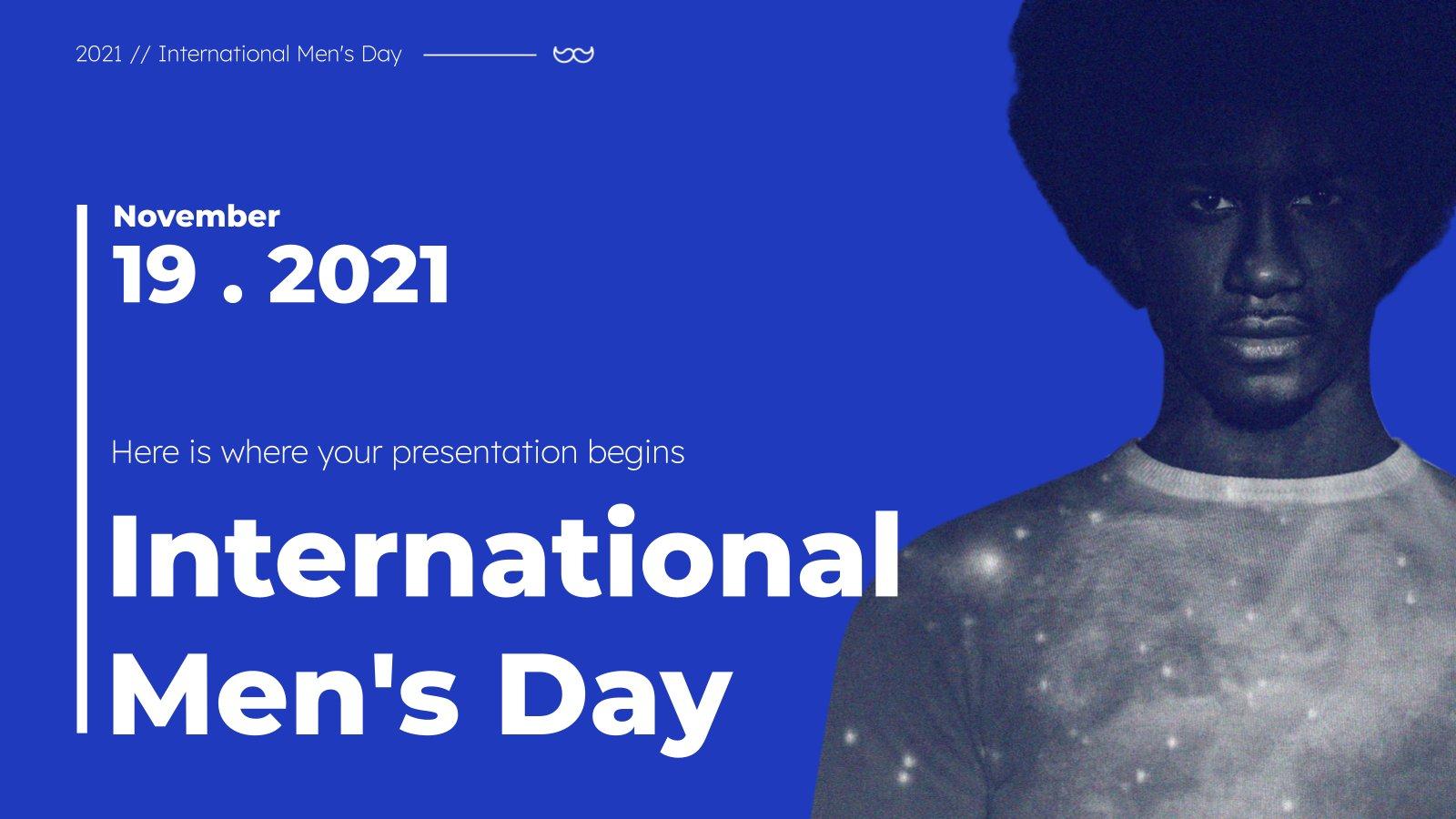 Plantilla de presentación Día Internacional del Hombre