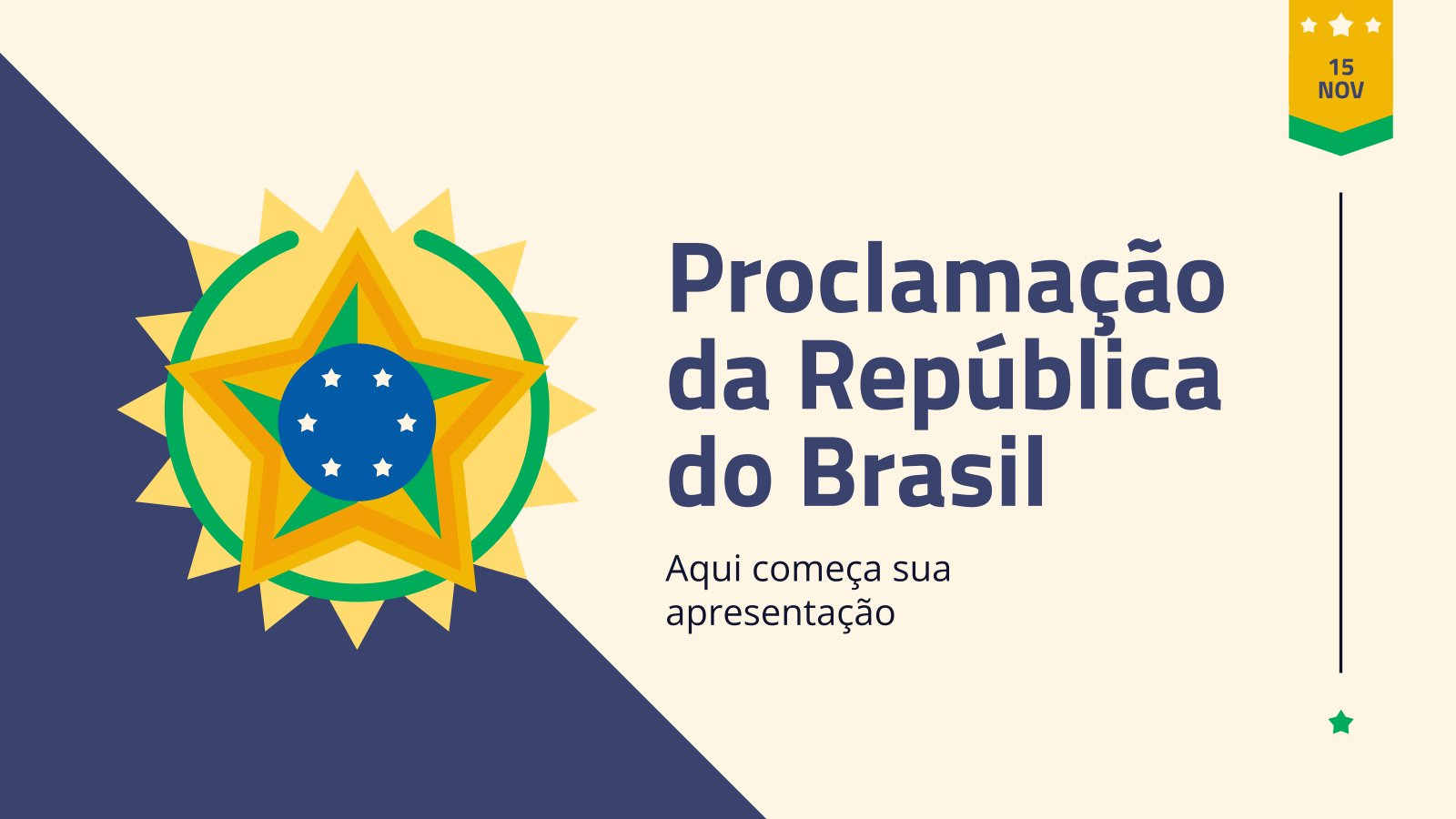 Plantilla de presentación Proclamación de la República en Brasil