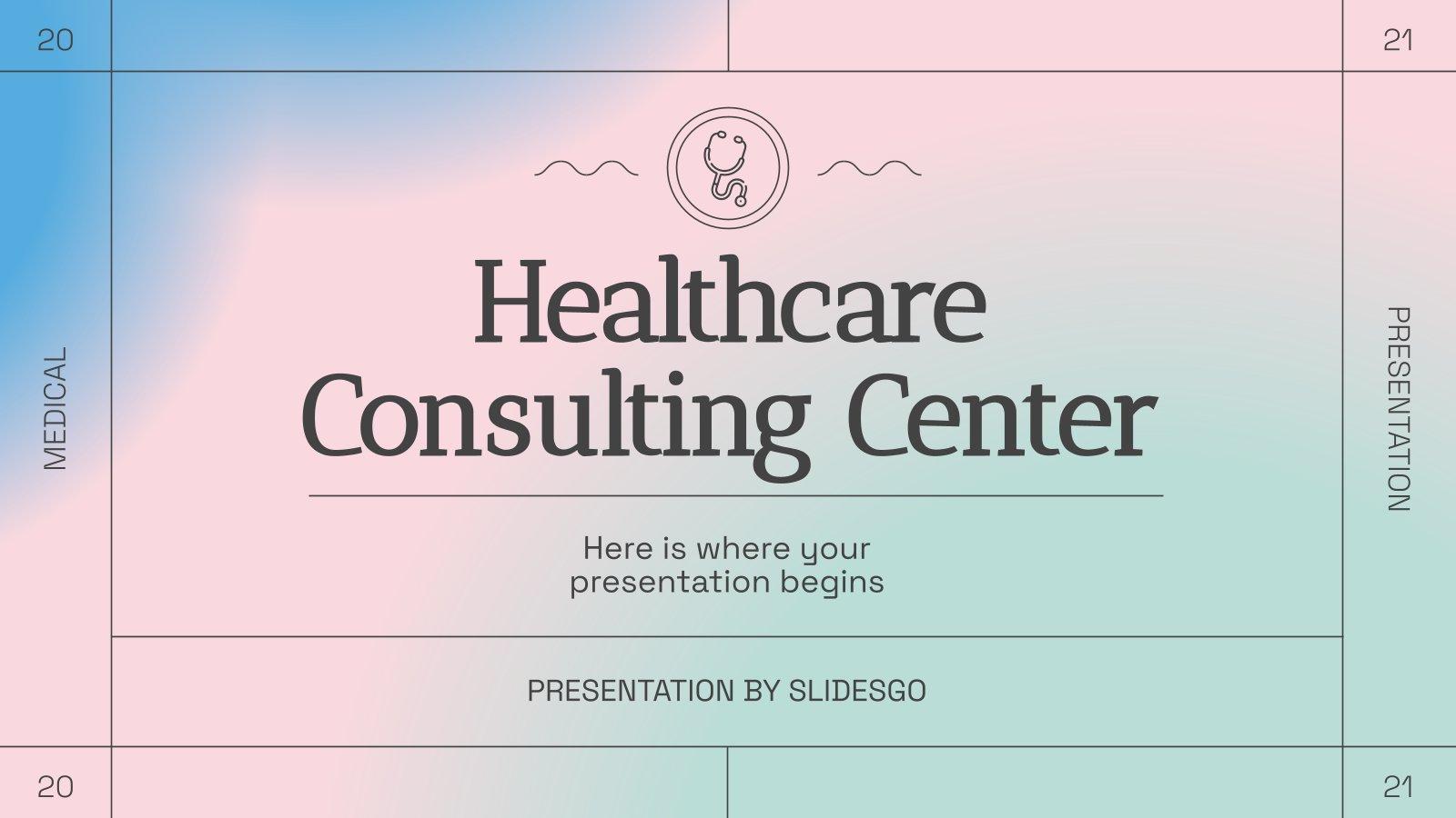 Healthcare Consulting Center presentation template
