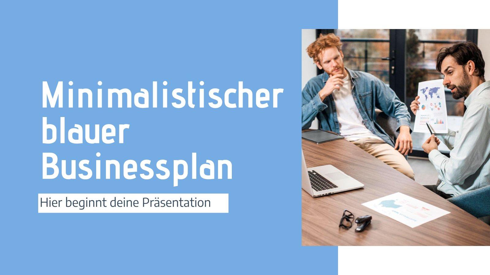 Minimalist Blue Business Plan presentation template