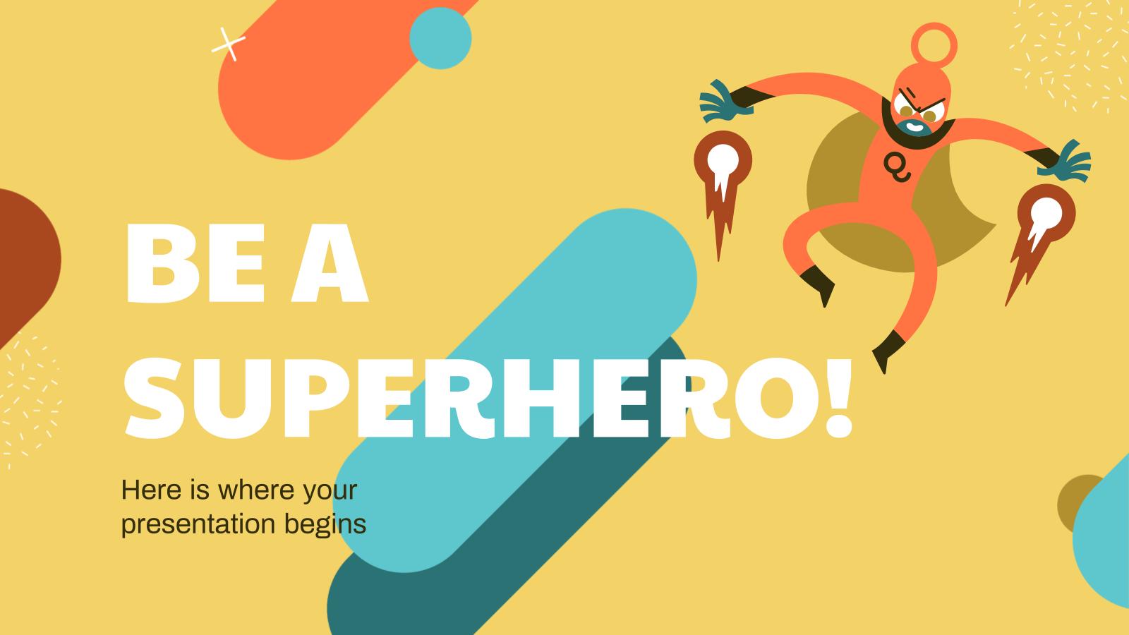 Plantilla de presentación Sé un superhéroe